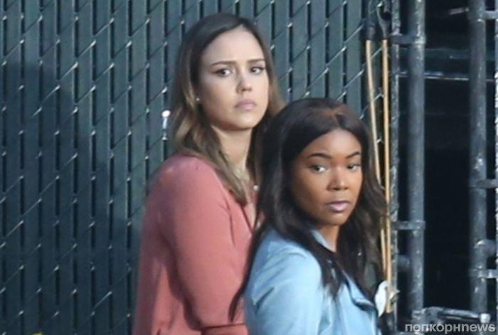 Джессика Альба и Габриэль Юнион на первых фото со съемок сериального спин-оффа «Плохих парней»