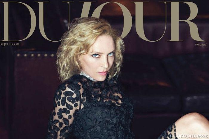 Ума Турман в роскошном фотосете для осеннего выпуска DuJour