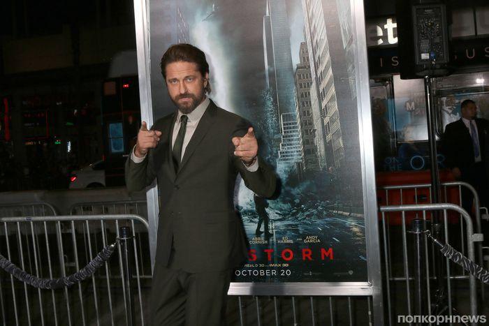 Джерард Батлер привез свой новый фильм «Геошторм» на премьеру в Голливуде