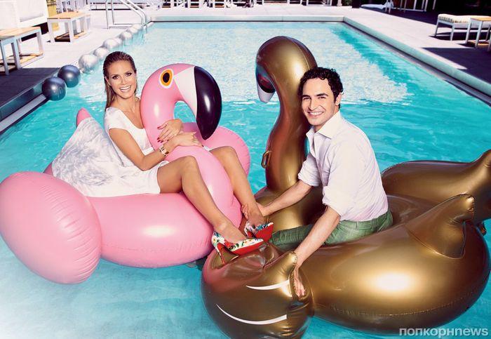 Хайди Клум и дизайнер Зак Позен в журнале Hamptons, лето 2016