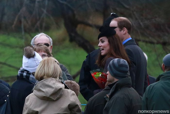 Британская королевская семья побывала на праздничной службе в церкви