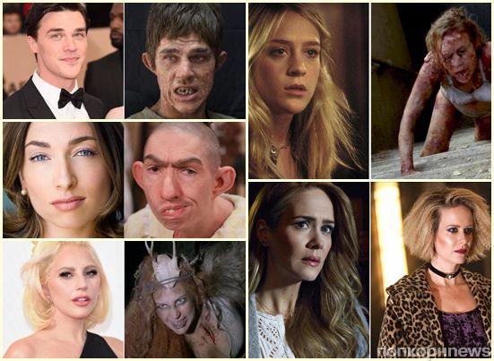 «Американская история ужасов»: 14 звезд сериала, неузнаваемых в гриме