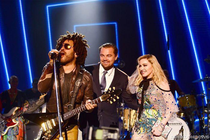 Фото: Кейт Уинслет, Мадонна и другие звезды на благотворительном приеме Леонардо ДиКаприо