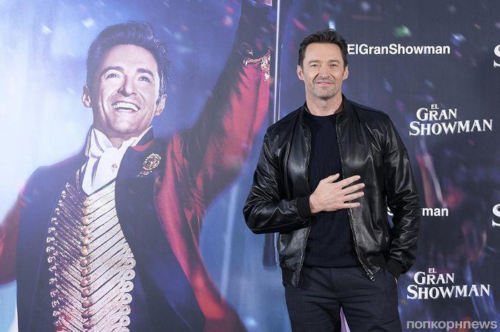 Хью Джекман на фотоколле мюзикла «Величайший шоумен» в Испании