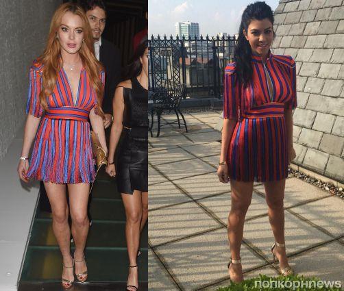 Fashion battle: Линдси Лохан и Кортни Кардашьян