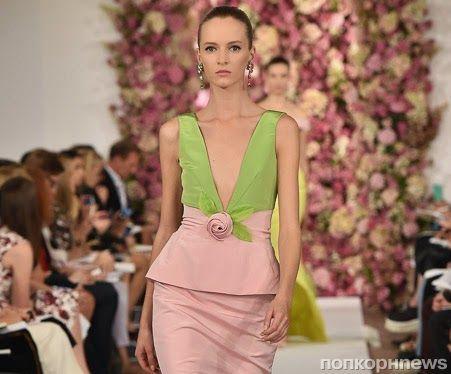 Модный показ новой коллекции Oscar de la Renta. Весна / лето 2015