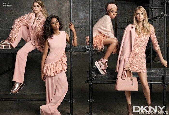 Кара Делевинь в рекламной кампании DKNY Resort 2015