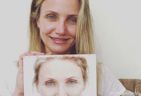 Камерон Диаз поделилась новым селфи без макияжа