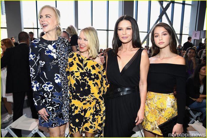 Николь Кидман, Наоми Уоттс и Кэтрин Зета-Джонс на показе Michael Kors в Нью-Йорке