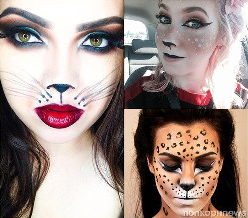 Простой макияж на Хэллоуин, создаем образ самостоятельно For 67