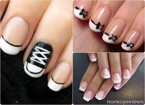 Фото модного маникюра короткие ногти
