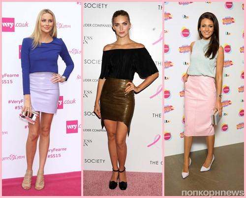 С чем носить розовую кожаную юбку
