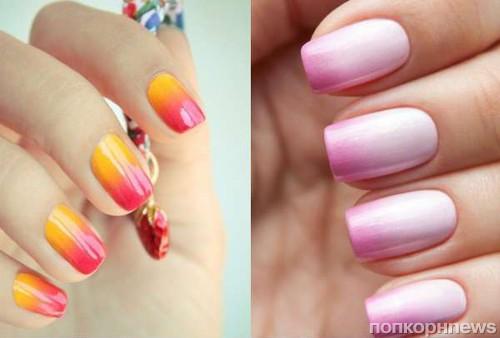 Дизайн ногтей переход одного цвета в другой фото