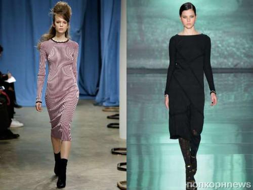 Фасоны платья осень зима