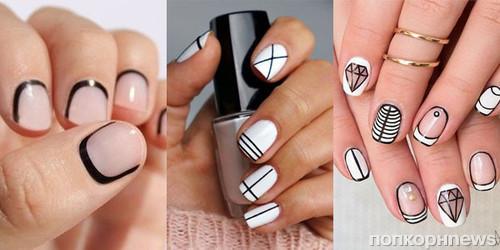Дизайн ногтей геометрия видео