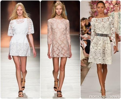 Фасоны модных платьев из кружева