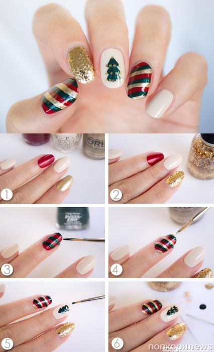 Рисунки на ногтях своими руками фото 161