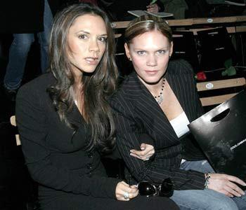 Виктория Бэкхем с сестрой Луис