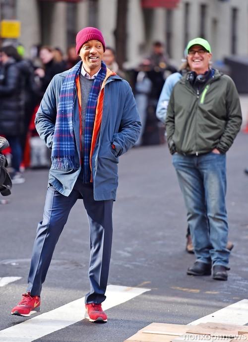 Уилл Смит на съемках нового фильма «Побочная красота»