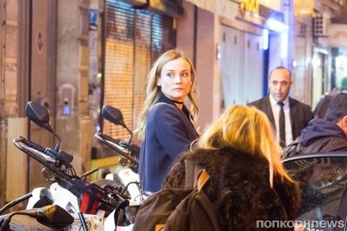 Диана Крюгер замечена в Париже