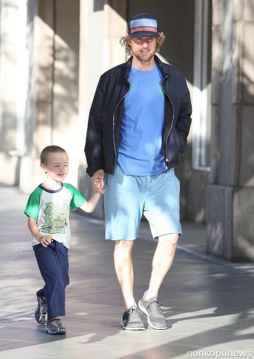 Оуэн Уилсон прошелся с сыном по магазинам