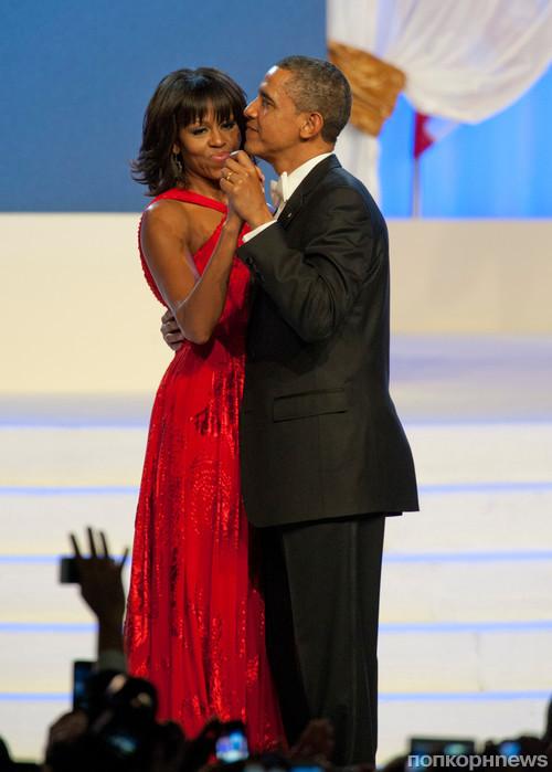Барак Обама и Мишель Обама на балу в честь инаугурации