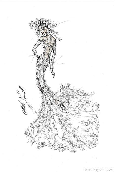 f9975f330c6 Карл Лагерфельд и другие дизайнеры создали эскизы свадебного платья ...