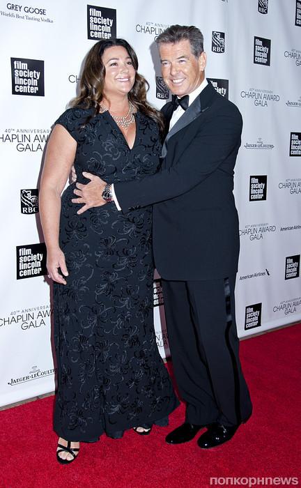 Пирс Броснан с женой