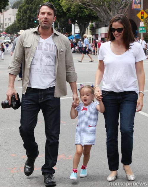Бен Аффлек и Дженнифер Гарнер с детьми