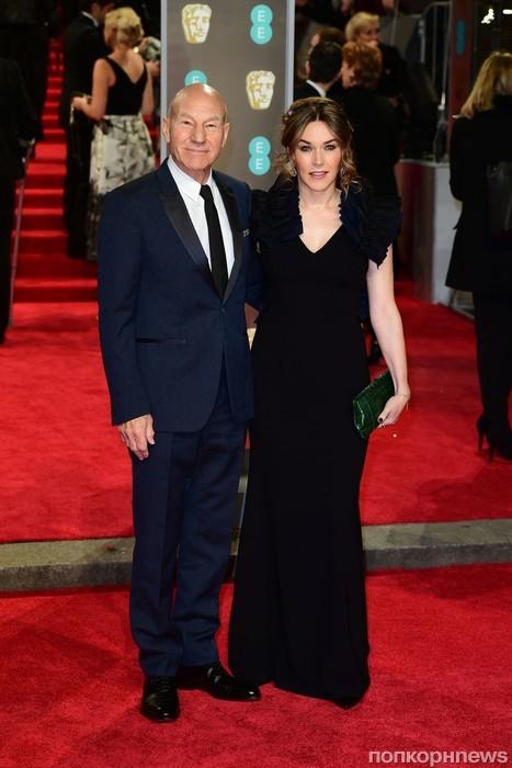 Патрик Стюарт с женой