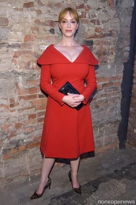 Кристина Хендрикс на Неделе моды в Нью-Йорке