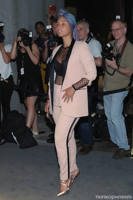 Алиша Киз на Неделе моды в Нью-Йорке