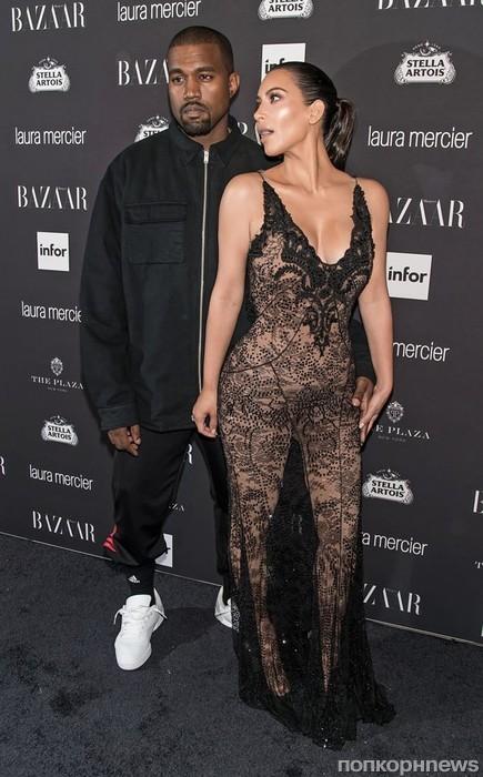 Ким Кардашьян и Канье Уэст на Неделе моды в Нью-Йорке