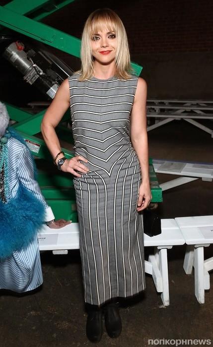 Кристина Риччи на Неделе моды в Нью-Йорке