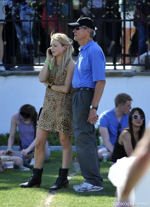 Клинт Иствуд с дочерью