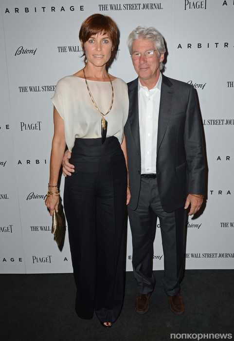 Ричард Гир с супругой Кэри Лоуэлл