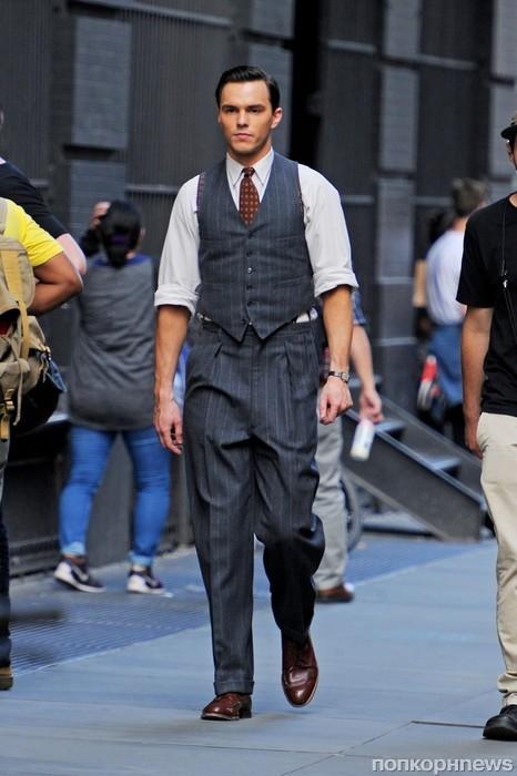 Николас Холт на съемках своего нового фильма в Нью-Йорке