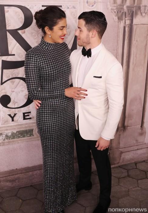 Приянка Чопра и Ник Джонас на показе Ralph Lauren