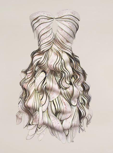 платье из баклажан