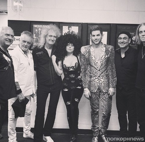 Lady GaGa, Адам Ламберт и группа Queen