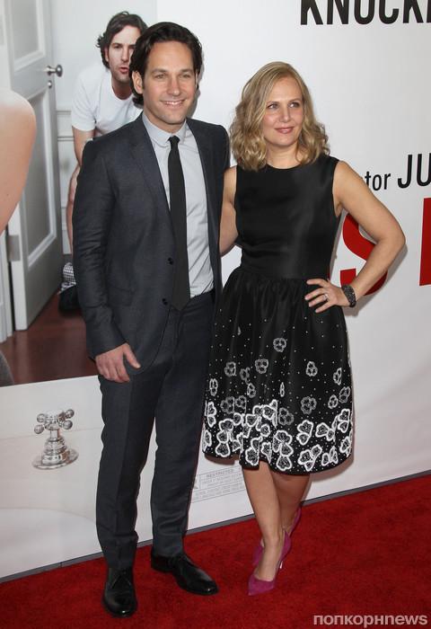 Пол Радд с женой