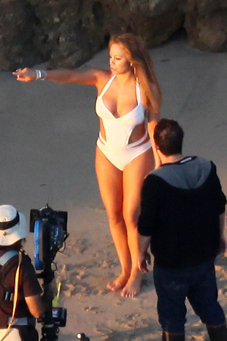 Мэрайя Кери на съемках своего нового клипа мэрайя кэри потолстела