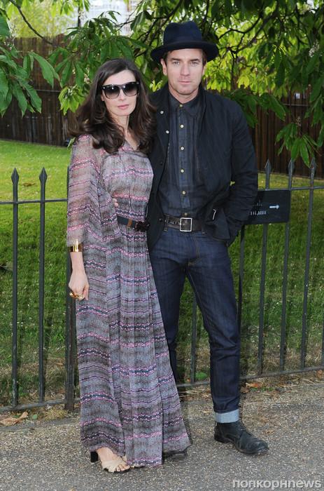 Юэн МакГрегор с женой