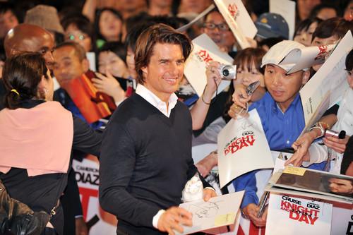 Премьера фильма «Рыцарь дня» в Японии