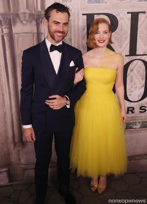 Джессика Честейн с мужем