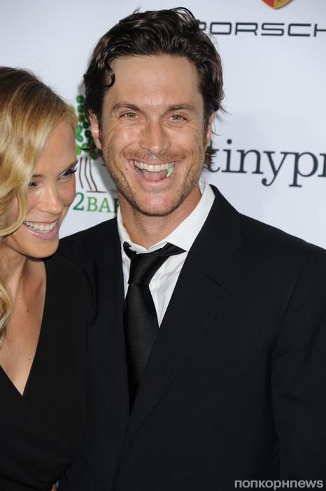 Оливер Хадсон с женой