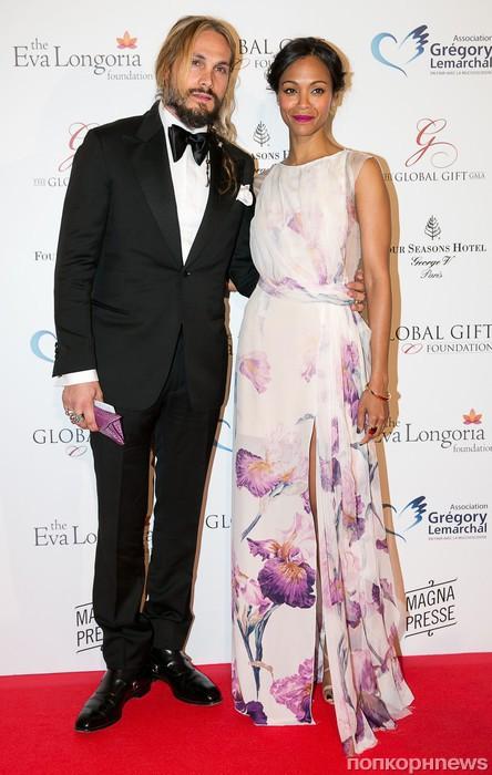 Зои Салдана с мужем