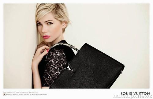 b42d1b3298c9 Мишель Уильямс в рекламной кампании сумок Louis Vuitton 2014. Счастливые и  влюбленные  Крис Прэтт с невестой Кэтрин Шварценеггер на ужине в Лондоне  (2) ...