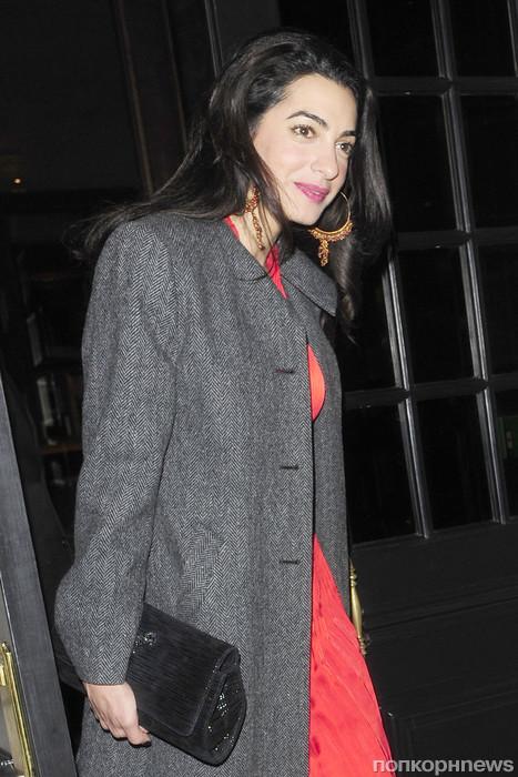 Джордж Клуни и Амаль Аламуддин после совместного ужина