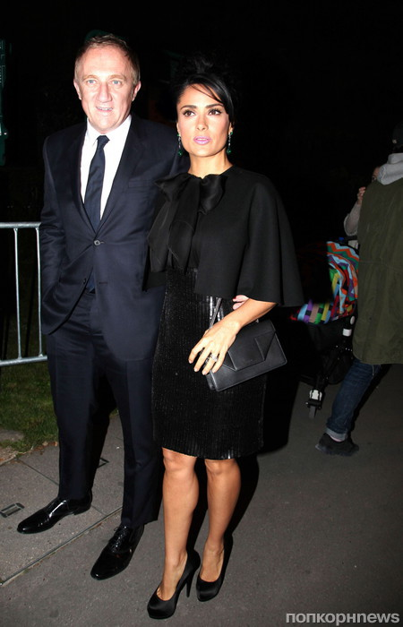 Сальма Хайек с мужем